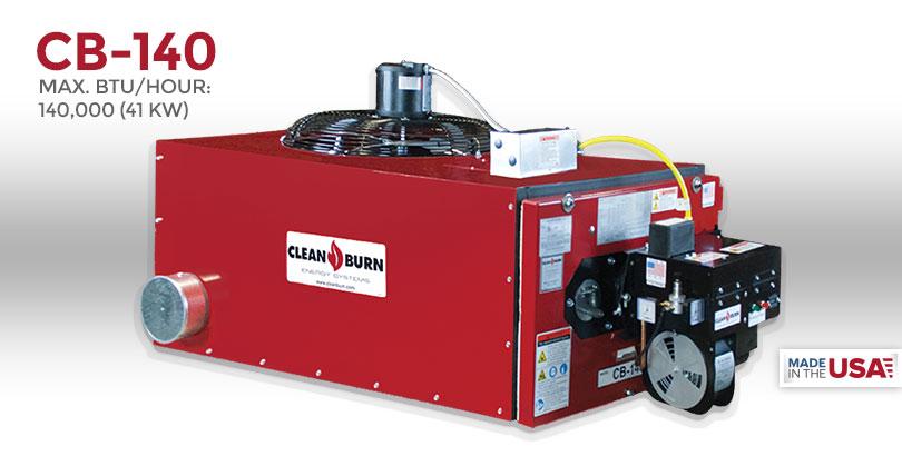 CB-140, Waste Oil Furnace, Used Oil Furnace, Furnace, Clean Burn, Model CB-140, 140,000 BTU/hr.
